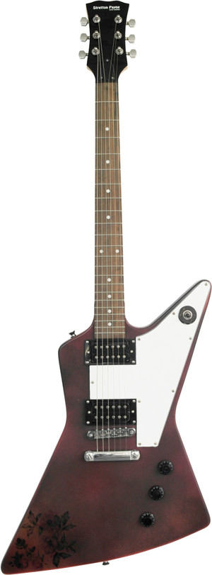 Stretton Payne X Shape Artist Series Electric Guitar Black Pink