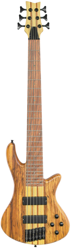 Stretton Payne Custom Shop ELECTRIC BASS GUITAR 6 String Lightwood