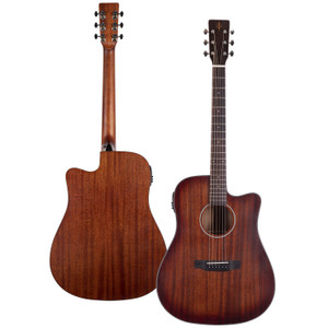 Stretton Payne Professional Signature Series, Solid Top Dreadnought Acoustic Guitar, Full Size, Steel String, Solid Mahogany Top, ADS-63CEQ