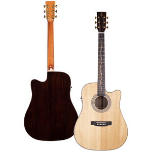 Stretton Payne Professional Signature Series, Solid Top Dreadnought Acoustic Guitar, Full Size, Steel String, Solid Spruce Top, ADS-69CEQ