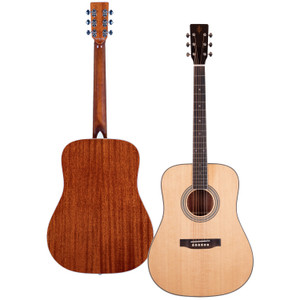 Stretton Payne Professional Signature Series, Solid Top Dreadnought Acoustic Guitar, Full Size, Steel String, Solid Spruce Top, ADS-68