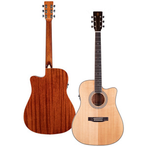 Stretton Payne Professional Signature Series, Solid Top Dreadnought Acoustic Guitar, Full Size, Steel String, Solid Spruce Top, ADS-68CEQ