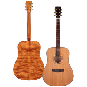 Stretton Payne Professional Signature Series, Solid Top Dreadnought Acoustic Guitar, Full Size, Steel String, Solid Cedar Top, ADS-82