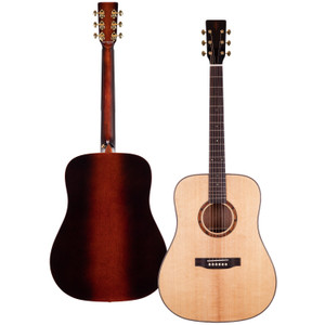 Stretton Payne Professional Signature Series, Solid Top Dreadnought Acoustic Guitar, Full Size, Steel String, Solid Cedar Top, ADS-83