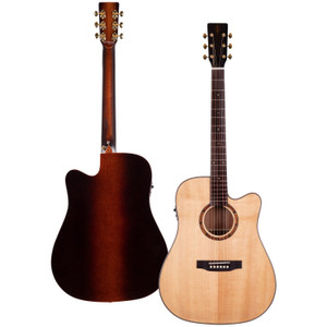 Stretton Payne Professional Signature Series, Solid Top Dreadnought Acoustic Guitar, Full Size, Steel String, Solid Cedar Top, ADS-83CEQ