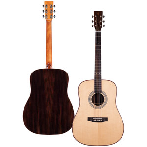 Stretton Payne Professional Signature Series, Solid Top Dreadnought Acoustic Guitar, Full Size, Steel String, Solid Spruce Top, ADS-79