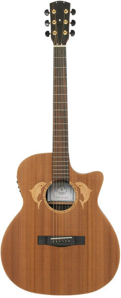 Stretton Payne Custom Shop SURF G400CE Grand Auditorium Acoustic Guitar, Size 41 inches, Sand Blasted, Solid Cedar Top, Rosewood Back, Rosewood Sides. Cutaway body. Electro Acoustic plug in pick-up.