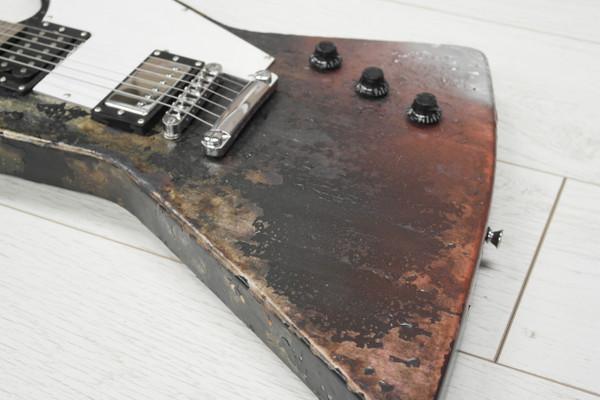 Stretton Payne X Shape Artist Series Electric Guitar Fire Axe Dark