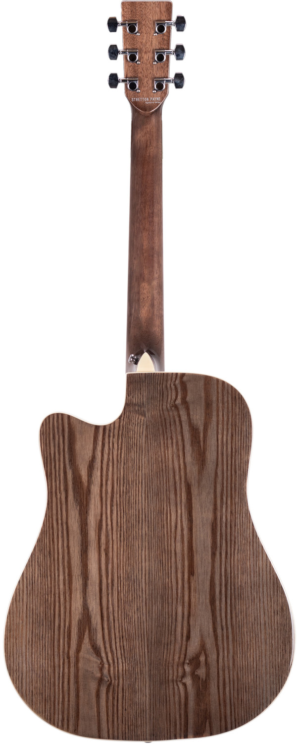 Stretton Payne Signature Series, Dreadnought Acoustic Guitar, Full Size, Steel String, Ash Top, AD-11CBK