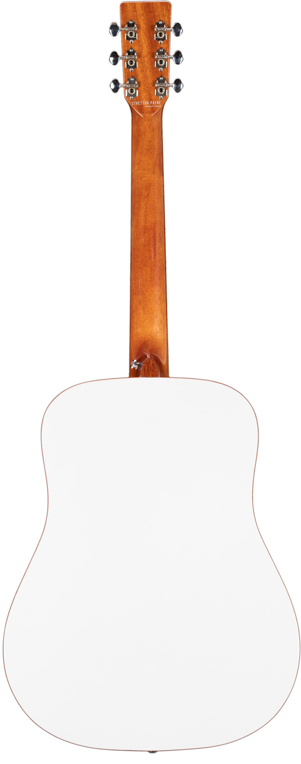 Stretton Payne Professional Signature Series, Solid Top Dreadnought Acoustic Guitar, Full Size, Steel String, Solid Cedar Top, ADS-60WH