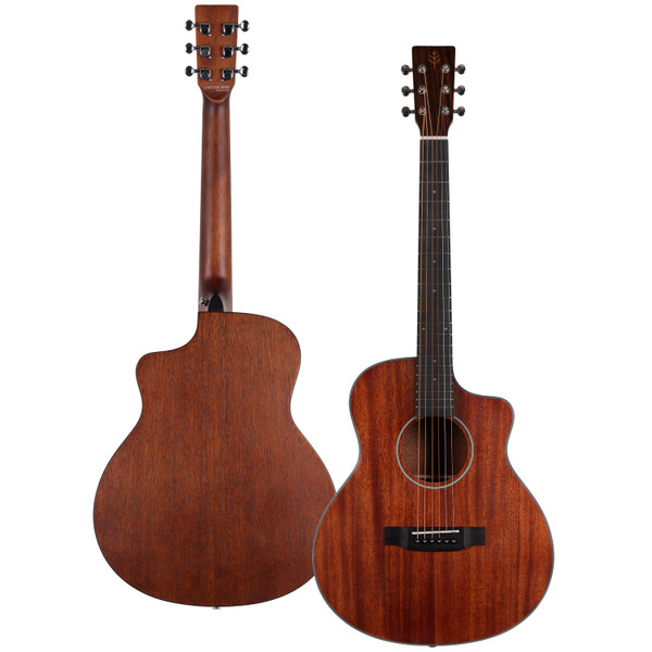 Stretton Payne Signature Series, Travel Mini Acoustic Guitar, 36 inch 3/4 size, Steel String, Solid Mahogany Top, Cutaway, GS-110
