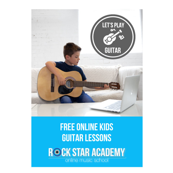 Kids Acoustic Guitar Package (age 7-11) 3/4 Size - Blue
