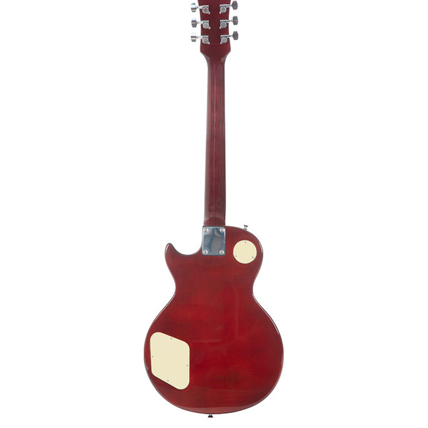 Stretton Payne LP Electric Guitar with practice amplifier, padded bag, strap, lead, plectrum, tuner, spare strings. Guitar in Cherry Burst