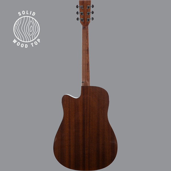 Stretton Payne D3 Solid Spruce Wood Top Cutaway Acoustic Guitar with Mahogany Back And Sides Natural Gloss Finish