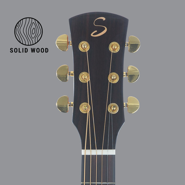 Stretton Payne D80 ALL SOLID Dreadnought Acoustic Guitar Solid Spruce Top Solid Mahogany Back And Sides