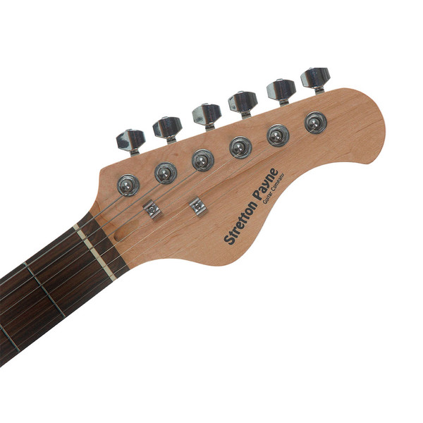 Stretton Payne TE Electric Guitar with practice amplifier, padded bag, strap, lead, plectrum, tuner, spare strings. Guitar in Sunburst