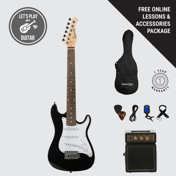 Stretton Payne Kids Electric Guitar and Amp Pack - Age 4-7 - Black