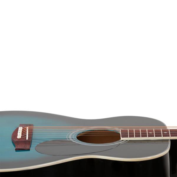 Stretton Small Body Acoustic Guitar Package Aquaburst