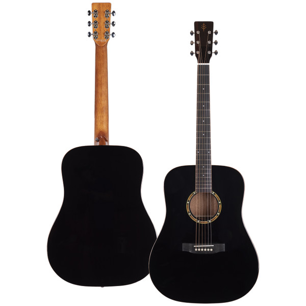 Stretton Payne Professional Signature Series, Solid Top Dreadnought Acoustic Guitar, Full Size, Steel String, Solid Cedar Top, ADS-60BK