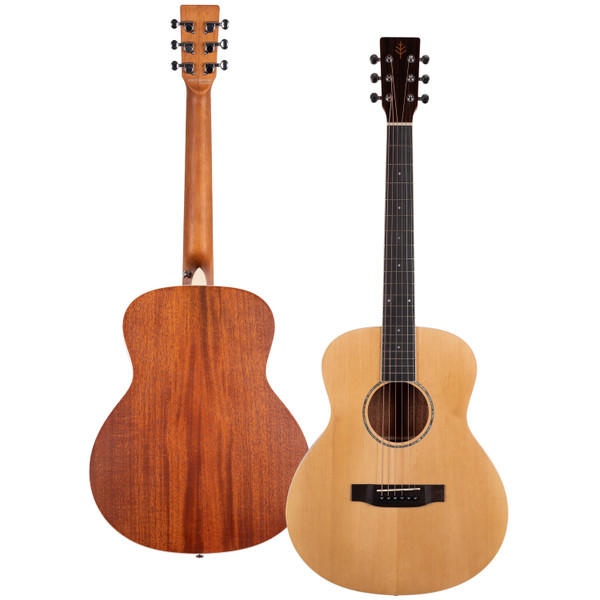 Stretton Payne Signature Series, Travel Mini Acoustic Guitar, 36 inch 3/4 size, Steel String, Solid Spruce Top, GSS-36T