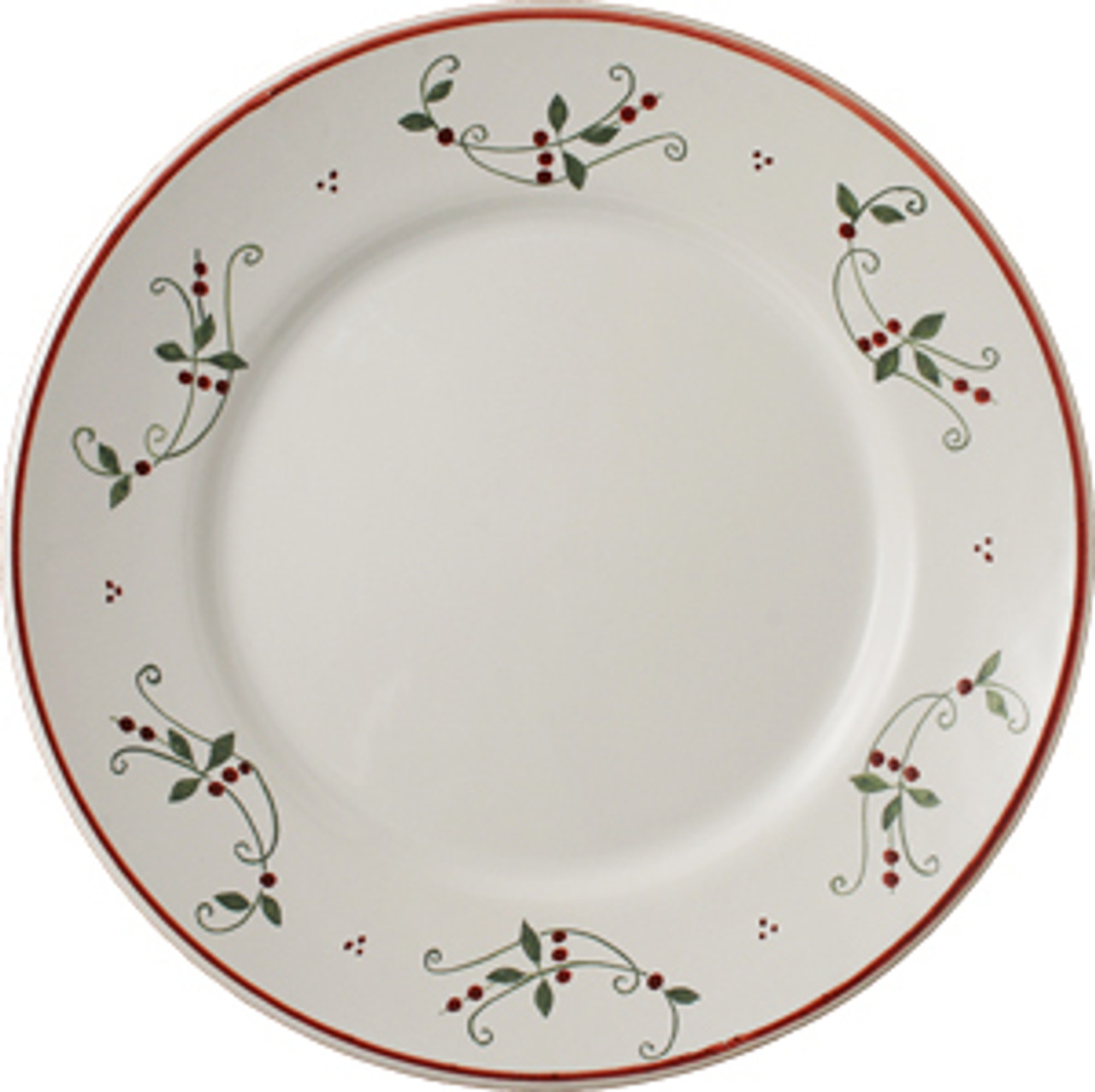 Christmas Plates.Round Plate 11 Inch Plain Garland Decor Spirit Of Christmas