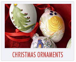Quimper French Pottery Christmas Ornaments