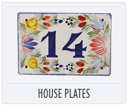 Quimper French Pottery House Plates
