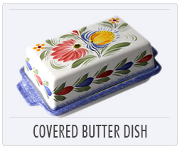 Quimper French Pottery - Covered Butter Dish