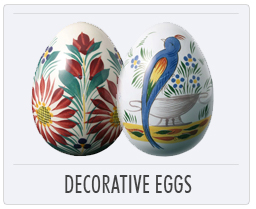 Quimper French Pottery Decorative Eggs