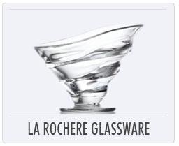 Quimper French Pottery La Rochere Glassware