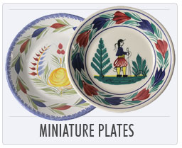 Quimper French Pottery Miniature Plates.jpg