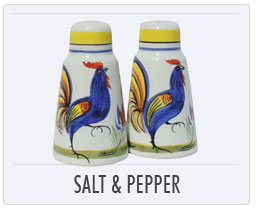 Quimper French Pottery Salt & Pepper Shakers