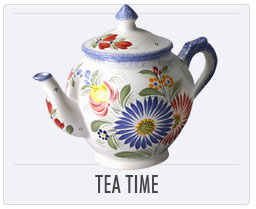 Quimper French Pottery Tea Time