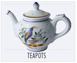 Quimper French Pottery Teapots