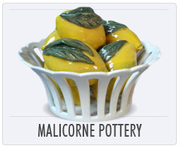 Quimper Pottery Malicorne Lemon Basket