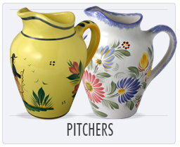 Quimper French Pottery Pitchers