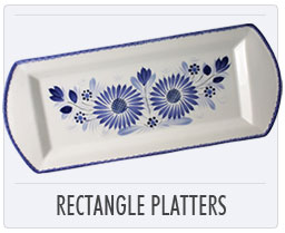 Quimper French Pottery Rectangle Platters