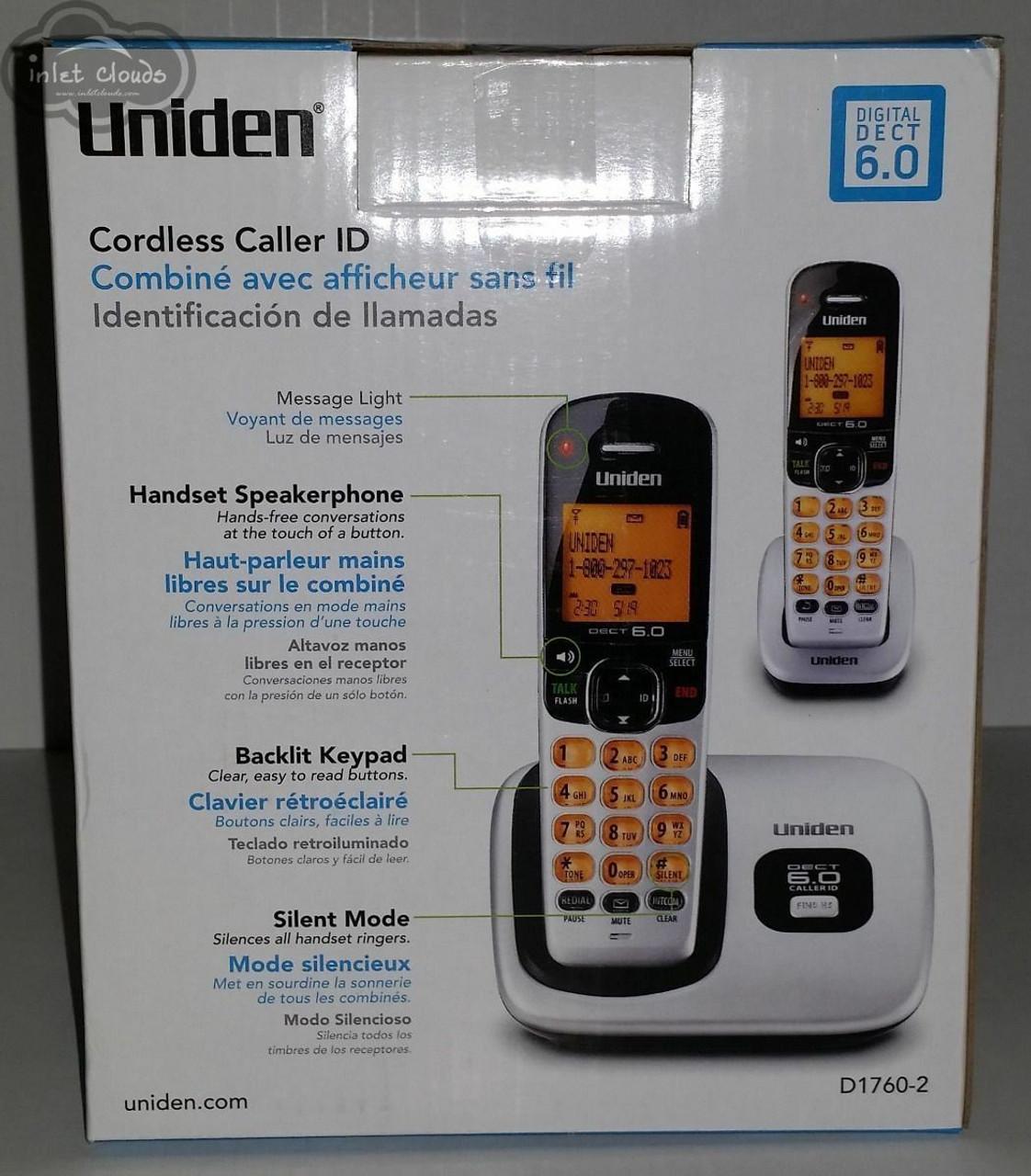 Uniden D1760-5 DECT 6.0 Cordless Phone w// 4 Extra Handsets
