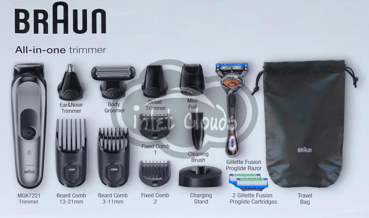 Braun 10 In 1 Beard Trimmer For Men Body Grooming Kit Hair Clipper