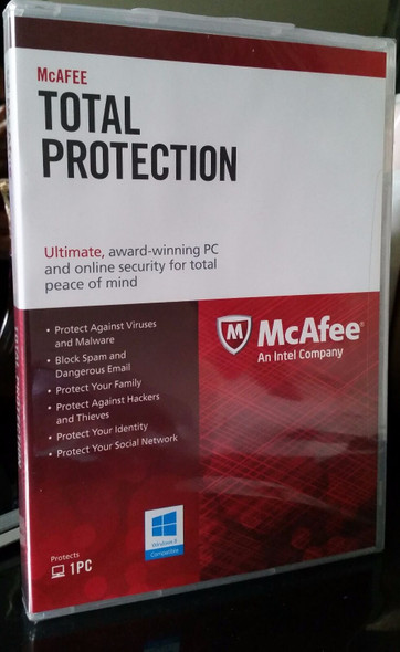 McAfee Antivirus Total Protection 1 Year Sealed Pack