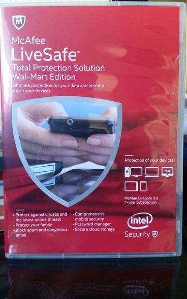 McAfee Antivirus LiveSafe Total Protection Solution Sealed Pack