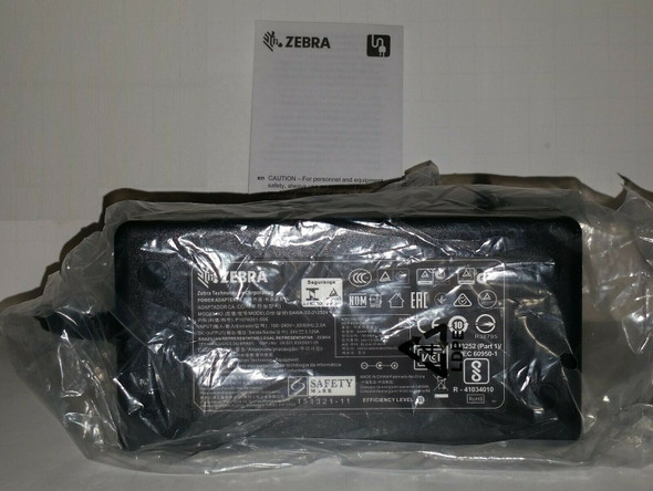Zebra Adapter Model: SAWA-52-312524, P/N:P1076001-006, 24V, 3.125A, 75W