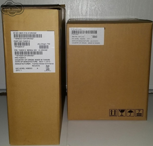"""IBM 4820-21G 12"""" Toshiba Touch Screen Display Iron Grey With Stand (Sealed)"""