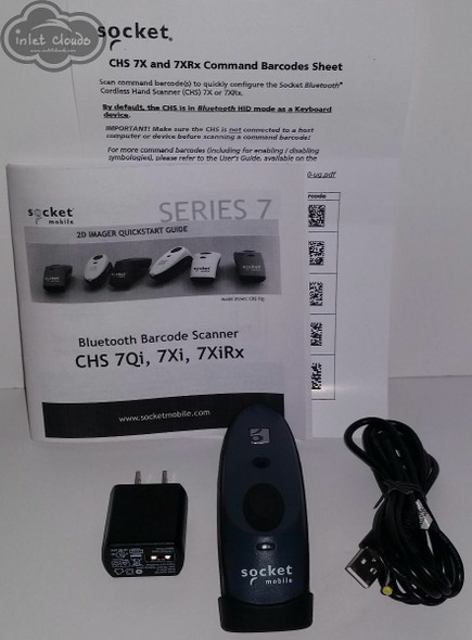 Socket Mobile 7xi chs 1D/2D Bluetooth  Barcode Scanner