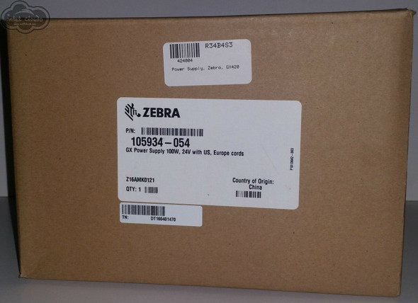 Zebra Printer Genuine Adapter 105934-054 GX, GK, G Series 100W