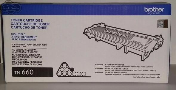 Brother TN660 High-Yield Toner Cartridge Black