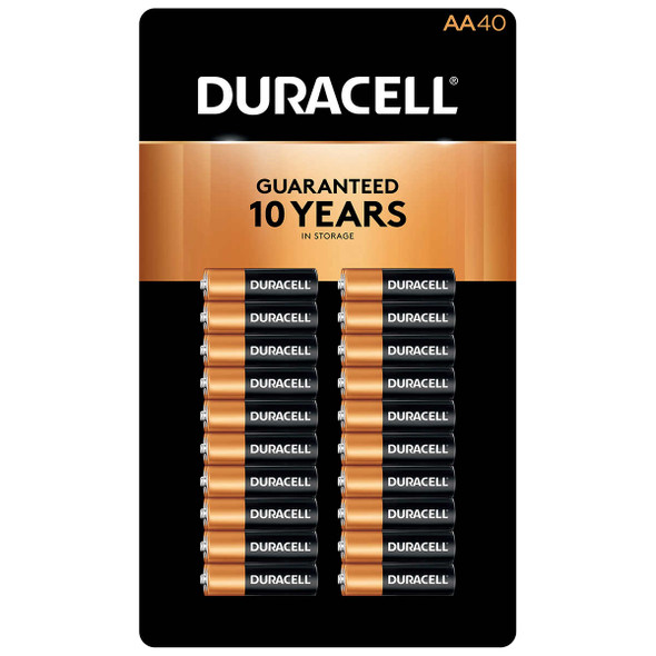 Duracell AA Alkaline Batteries, 40-count
