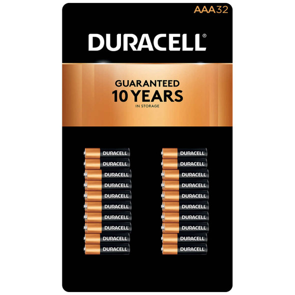 Duracell AAA Alkaline Batteries, 32-count