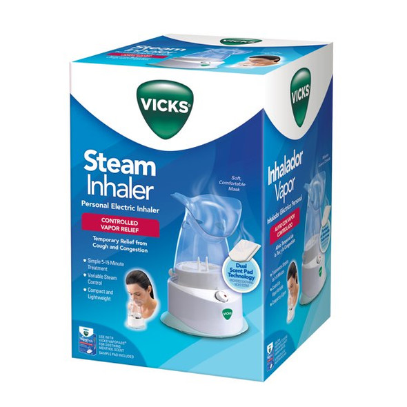 Vicks Personal Electric Steam Inhaler, V1200 Compact & Lightweight