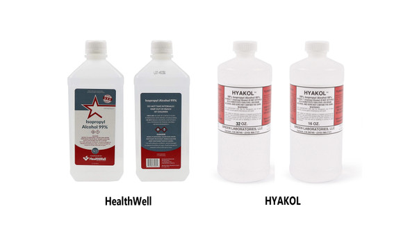 Isopropyl Alcohol - 99% - 16/32 oz (HealthWell / HYAKOL  / SWAN)